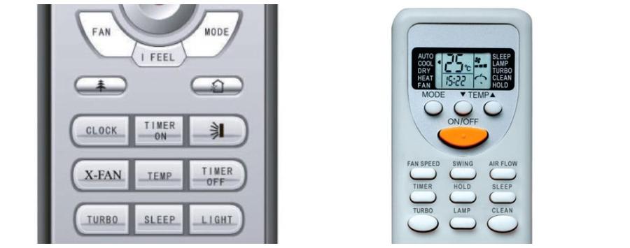 Кнопки «CLEAN» и «X-FAN» на пультах